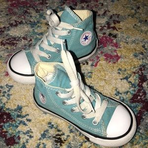 Turquoise Converse Sneakers Toddler 7
